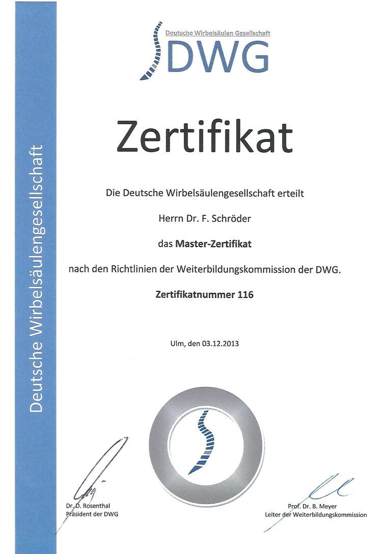 Zertifikat DWG