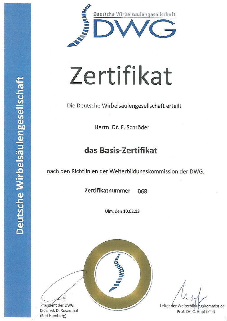 Basis-Zertifikat DWG
